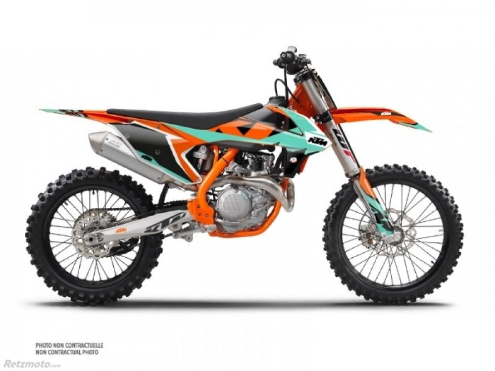 KIT DÉCO MOTO CROSS GRAVITY KTM 250/450 SXF VERT