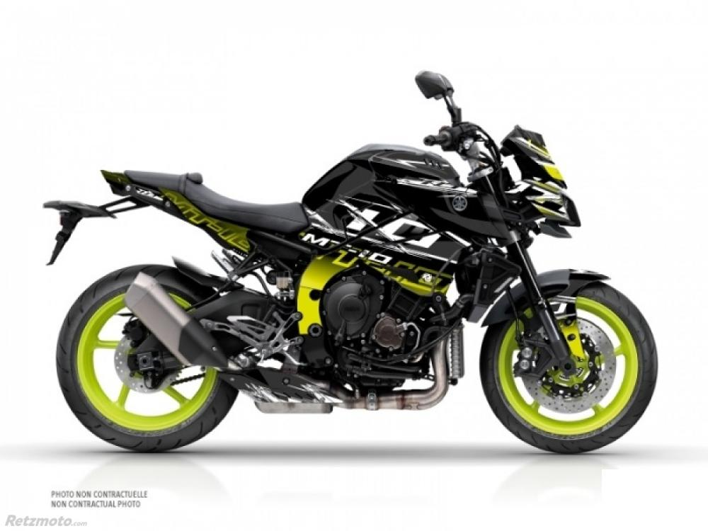 KIT DÉCO MOTO MISSION YAMAHA MT 10 JAUNE