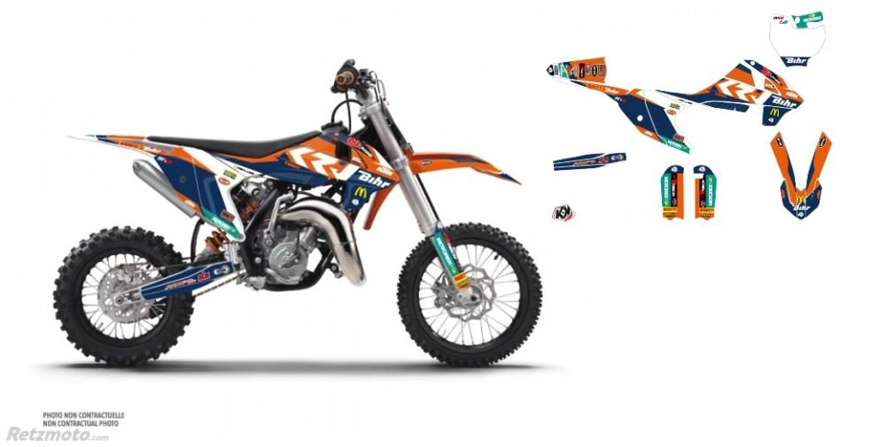 KIT DÉCO MOTO CROSS REPLICA PICHON KTM 65 SX