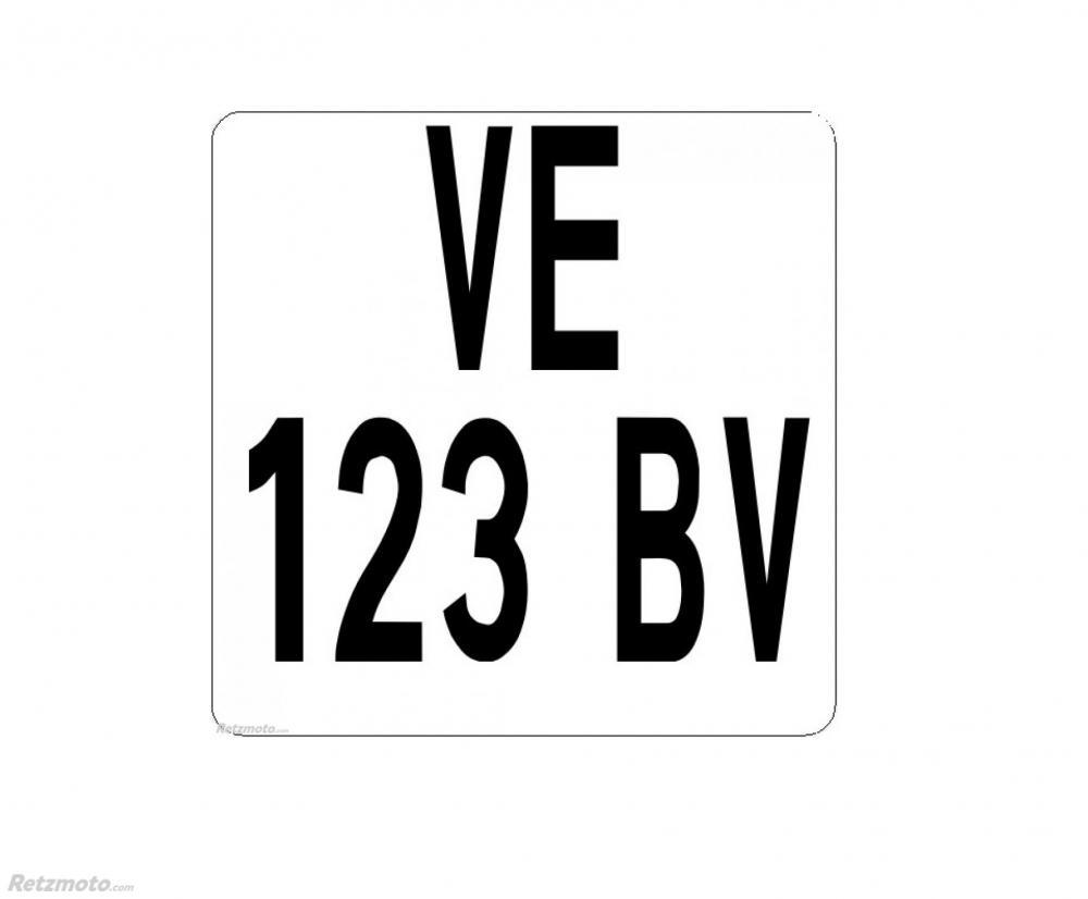 Plaque immatriculation Moto Enduro(100x100) PVC