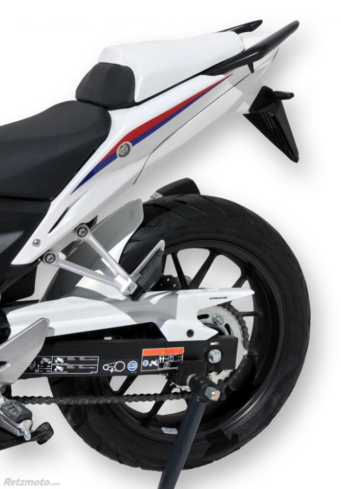 garde boue arriere Ermax pour CB 500 F 2013-2015, blanc mat 2015(mat pearl glare white [NHB54])