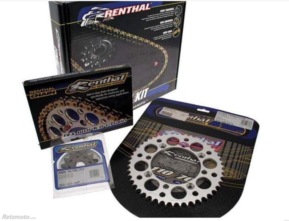 Kit chaine Renthal 13/50 couronne alu chaine 520 Yamaha YZ250F