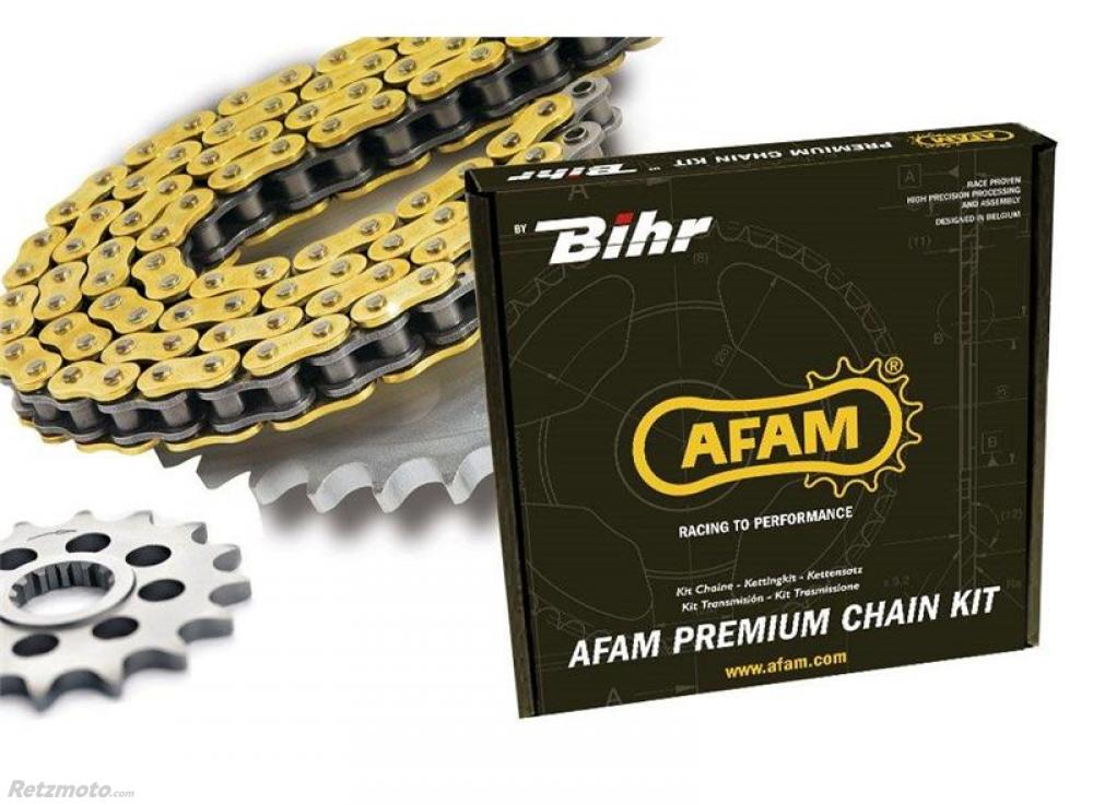 Kit chaine AFAM 520 type XSR (couronne standard) KTM 640LC4 ENDURO